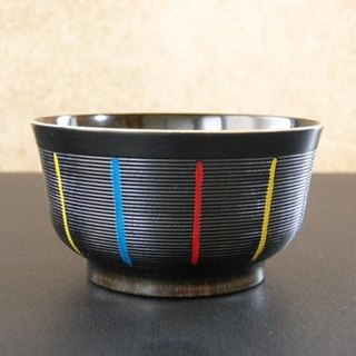 [Christmas gift] small bowls <small bowl type · linear pattern> / black stripes x
