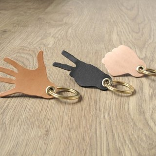 Bag x cut x 槌 leather brass key ring guitar Pick leather set (3 pieces / optional different colors match)