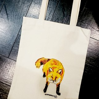 Cat and dog and owl with shopping bags -06- Mr. Fox