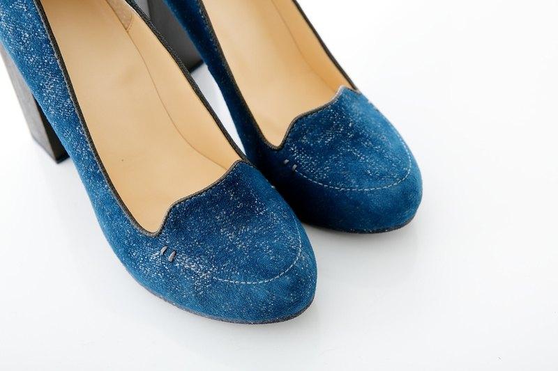出清品: Allison (Blue) 英國藍色步調 高跟鞋