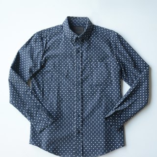 Japan imports Shuiyu little bristles fabric shirt / Dot Shirt