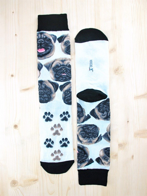 JHJ Design Canadian brand of high saturation knitting socks dog family - Bago Socks (knitted socks)