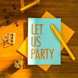 Plantable Seed Paper Letterpress Invitation Card (Let Us Party)