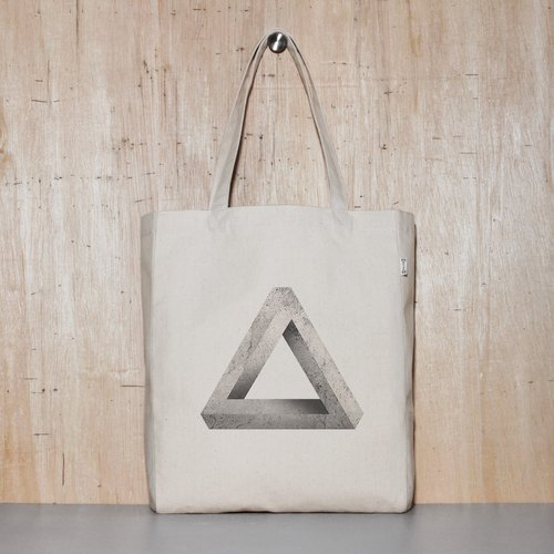 Unreasonable triangle Penrose triangle original canvas tote