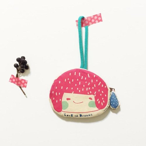 LovE to Dreams little girl travel card holder / purse - red