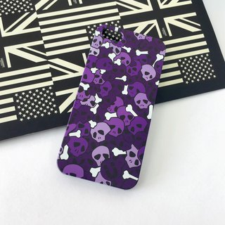 Skull Purple Pattern Print Soft / Hard Case for iPhone X,  iPhone 8,  iPhone 8 Plus,  iPhone 7 case, iPhone 7 Plus case, iPhone 6/6S, iPhone 6/6S Plus, Samsung Galaxy Note 7 case, Note 5 case, S7 Edge case, S7 case