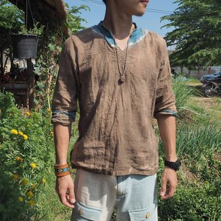 "EARTH.er │ ""Cloudy"" neutral vegetable dyes coat ● ""Cloudy"" Natural Dyed Salom Shirt│ :: Hong Kong original design brand ::"