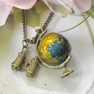 A romantic trip to the earth necklace