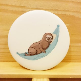 Sloth lazy [Take a rest] hand-painted wind badge