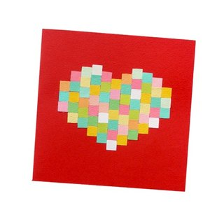 Handmade Cards _ Love Mosaic - Full of Hearts... Valentine Card, Thank You Card