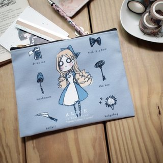 Portable canvas zipper bag ▌ Alice in Wonderland Alice ▌Zakka