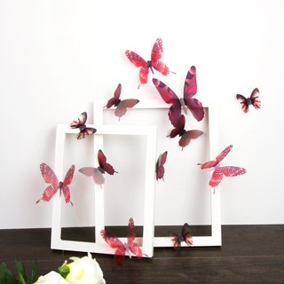 HomePlus 3D STREAK BUTTERFLY - RED