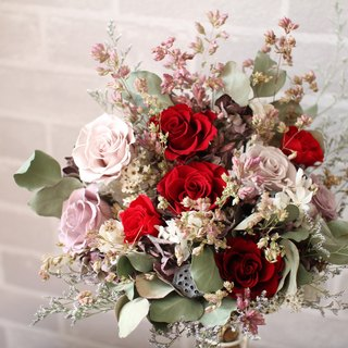 [Elegant ruby] - immortalized flower / dried flowers / jewelry bouquet / wedding bouquet bouquet / flower ceremony