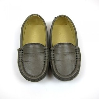 Fort Tony Wang leather handmade shoes kids [sheep / bean bottom / light gray]