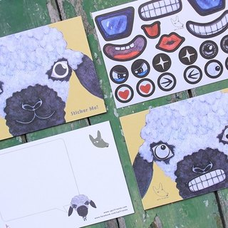 Sticker Me! Music stickers friends! _ Scottish black-faced sheep