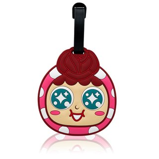 QQ tumbler luggage tag - Rose