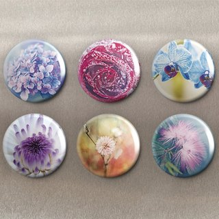 Floral - Magnet (6 in) / Badge (6 in) / Birthday Gift [Special U Design]