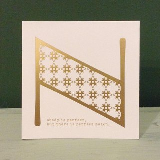 Bronzing letter card envelope sticker group -N