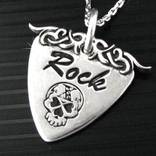 Customized .925 sterling silver jewelry GP00002- guitar plectrum Pendant