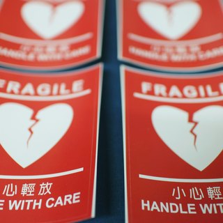 Fragile / Handle With Care Sticker 4pcs