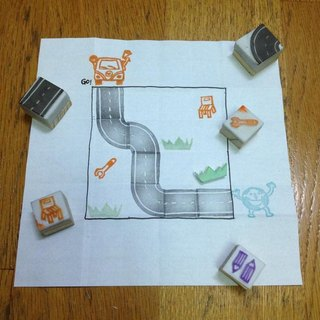 :: Play with a rubber stamp Games :: Take me home game road group