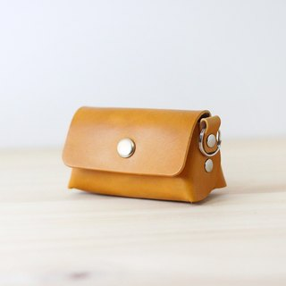 LION's Handmade Leather -- Coin Purse / Key Ring (Yellow)