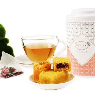 Gift tea with pastries - light dance Versailles (Rose oolong) tea bags of canned pineapple cake [+] HERDOR tea gift