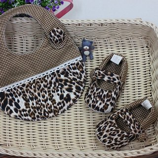 Coffee coffee leopard leopard shoes + pocket toddler shoes group