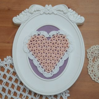 Romantic heart-shaped woven baskets empty coaster / tea makers pad ~