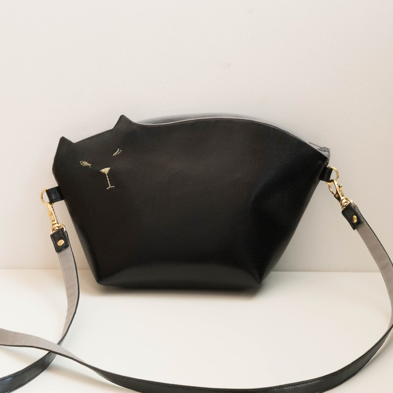 Cat's handbag Pochette 2way 001 No. [Make-to-order production]