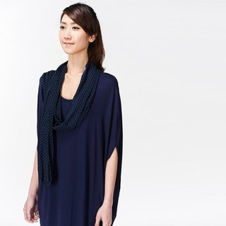 Elliptical Scarf Design Dress / Top - Blue Blue