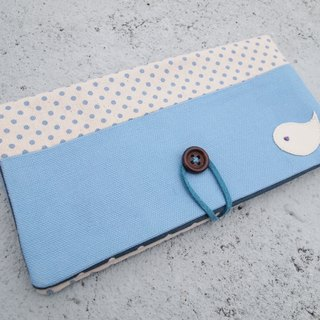 Baby Blue Bird passbook bag / wallet long clip