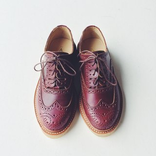 A ROOM MODEL - │ SHOES COLLECTION │ 002- red oxford shoes