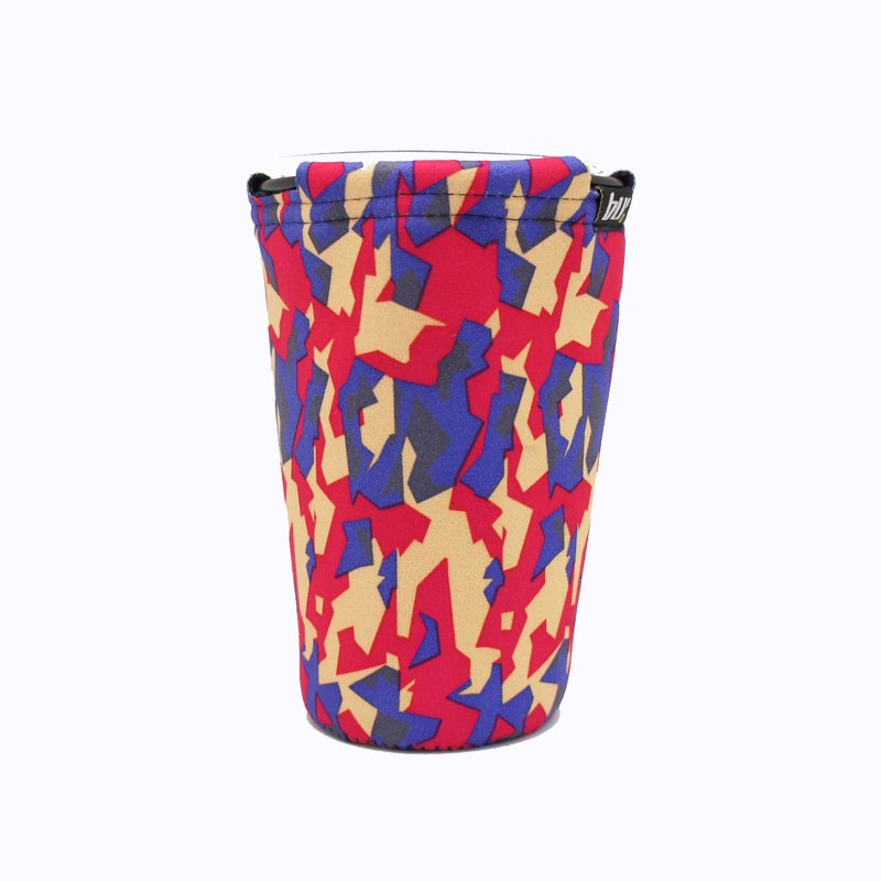 BLR Drink caddy for gogoro  Red & Purple Camouflage  WD75