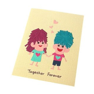 Handmade card _ hand in hand lover card