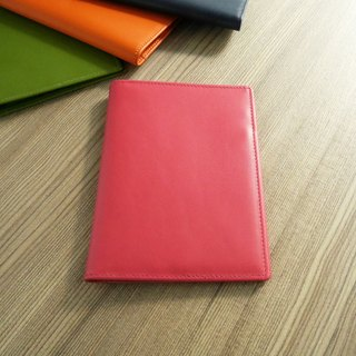 Colorful series - leather passport holder / Rose Red