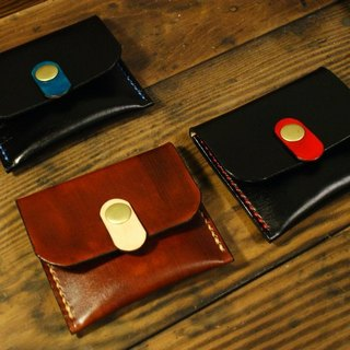 Hand-stitched leather / classic tricolor Purse