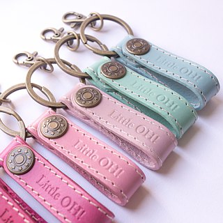 * Graduation gift * OH! Handmade leather key ring - short. Customized / Birthday Gifts / Detective / Wedding Small Things