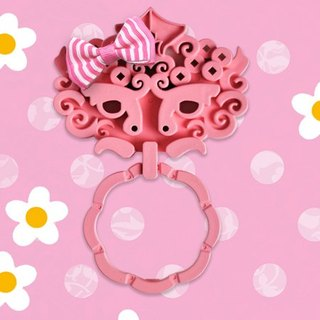 Tao-Tie Dragon Door Knocker Magnet - Pink