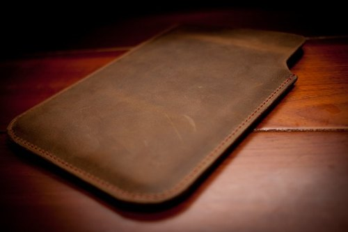 Dreamstation leather Pao Institute, Ipad Mini handmade leather case.