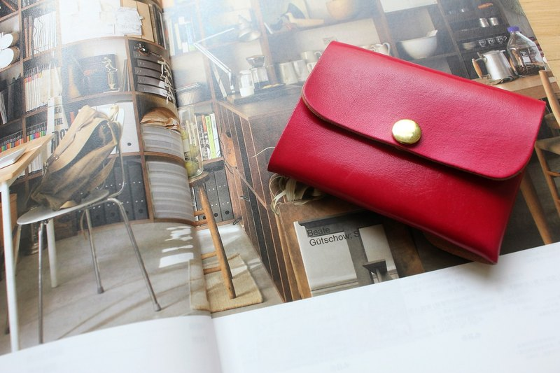 [Mini5] double-sided multifunctional purse (red)