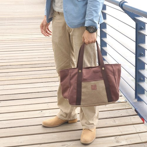 """Forest Adventure shoulder bag"" high poundage washed canvas"