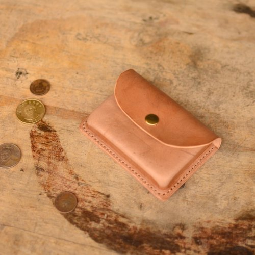 Skarn Shika // thick card business card holder zero wallet Italian leather ※ (leaves) leather styling techniques (out of print)