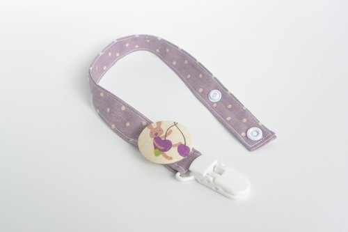 Cloth deduction feel pacifier chain - Rabbit