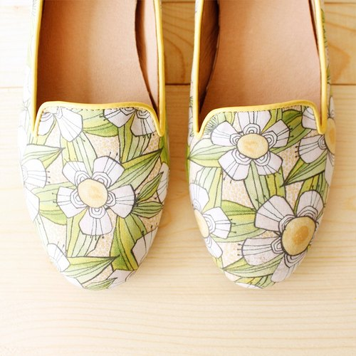 Oubei La floret increased 23.5 X number within Waltz [Spot] / shoes / handmade custom / Japanese cloth