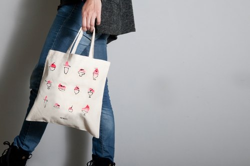 Hand-painted handprints Peibu bag] [Ice Bowl sided pattern hand / shoulder