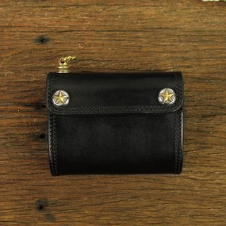MT LIMITED EDITION- NO.002 Wallet carved buckle basic models short clip (star buckle Edition)