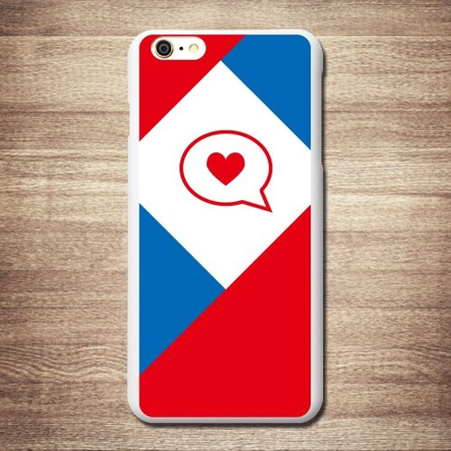 British style - red, white and blue have read love, 3D relief Phone Case / gifts (black and white shell / transparent) travel card