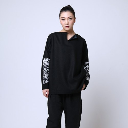 BUFU double side to wear kongfu wool sweater  O150908