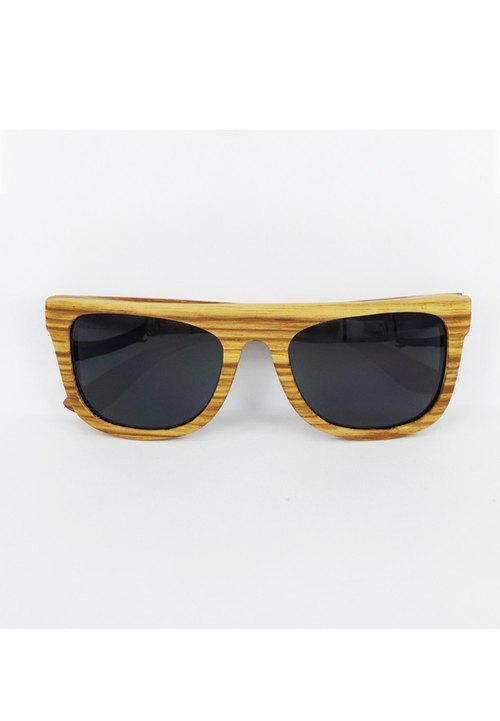 Cinss Wait and See wood frame sunglasses